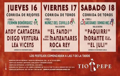 Carteles Feria taurina de Jerez 2019
